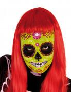 Masque Dia De Los Muertos vert fille