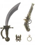 Kit de pirate en plastique-Sabre pistolet insigne boucle oreilles Enfant