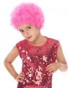 Perruque disco enfant rose