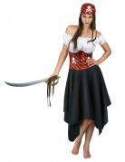 Vous aimerez aussi : Déguisement pirate à rayures noires et rouges femme