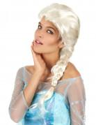Perruque femme blonde avec tresse
