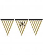 Vous aimerez aussi : Guirlande à fanions noir et or 70 ans 3,7m