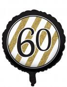 Vous aimerez aussi : Ballon aluminium 60 ans noir et doré 46 cm