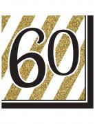 Vous aimerez aussi : 16 Serviettes en papier 60 ans noires et dorées 33 x 33 cm