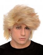 Perruque blonde homme décoiffée