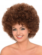 Perruque afro chatain femme