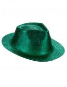 Chapeau pailleté vert adulte
