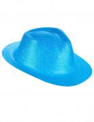 Chapeau pailleté turquoise adulte