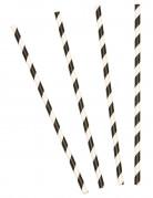 Vous aimerez aussi : 10 Pailles en carton rayées noires 19,5 cm