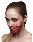 Fausse blessure dents apparentes adulte Halloween