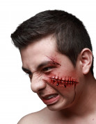 Fausse blessure points de sutures adultes Halloween