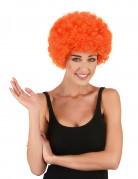 Perruque afro/clown orange standard adulte