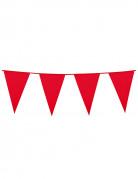 Guirlande à fanions rouges 10m