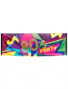 Bannière en tissu 80's Party 74 x 220 cm