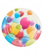 10 Assiettes ballons volants 23 cm