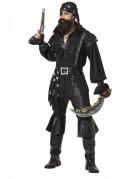 Déguisement pirate chemise noire homme