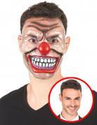 Masque transparent clown terrfiant adulte