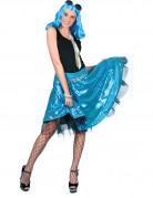 Jupe disco bleue à sequins femme