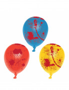 6 Ballons latex ensanglanté Halloween