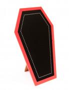 Ardoise en bois cercueil gothique Halloween 19 x 12 cm