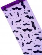 Chemin de table organza violet chauve-souris Halloween 29 cm x 5 m