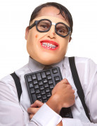 Demi-Masque en latex geek adulte