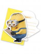 6 Cartes d'invitation avec enveloppes lovely Minions™