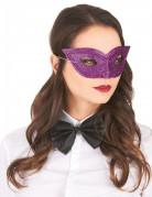 Loup vénitien pailleté violet adulte