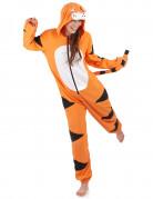 Combinaison à capuche tigre femme