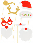 Kit photobooth 8 pièces Noël