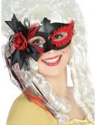 Vous aimerez aussi : Loup noir avec dentelle et fleur rouge femme