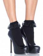 Socquettes noires avec dentelle femme