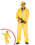 Déguisement gangster jaune adulte