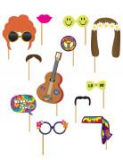 Kit photobooth Hippie 12 pièces