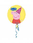 Ballon aluminium anniversaire Peppa Pig™ 43 cm