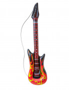 Guitare rock en flammes gonflable 105 cm