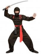 Déguisement ninja musclé noir garçon