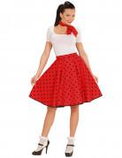 Vous aimerez aussi : Jupe et foulard rouge à pois années 50 femme