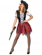 Vous aimerez aussi : Déguisement Pirate rayures rouges et noires femme