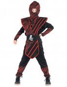 Déguisement ninja fauve rouge garçon