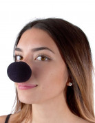 Nez clown en mousse noir
