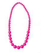 Collier grosses perles roses adulte