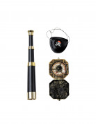Kit accessoires capitaine pirate adulte