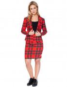 Costume Mrs. Tartan rouge écossais femme Opposuits™