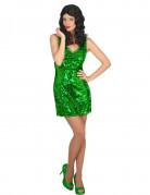Déguisement robe disco sexy verte femme