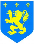 Vous aimerez aussi : Cutout médiéval lion bleu diam. 30cm