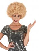 Perruque afro disco Blonde confort adulte