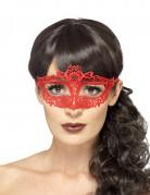 Vous aimerez aussi : Masque dentellé rouge femme