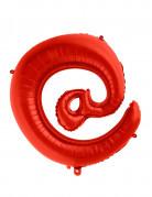 Ballon aluminium géant symbole @ rouge 70 cm