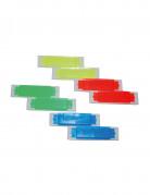 8 Mini harmonicas colorés factices